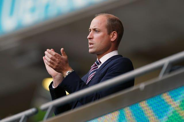 The Duke of Cambridge in the stands during the semi-final at Wembley Stadium