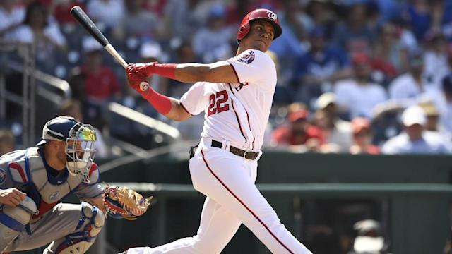 Three years ago, Juan Soto was at the Nationals' prospect academy in the Dominican Republic. On Monday, he made his first start in the major leagues and hit a home run on the first pitch he saw.