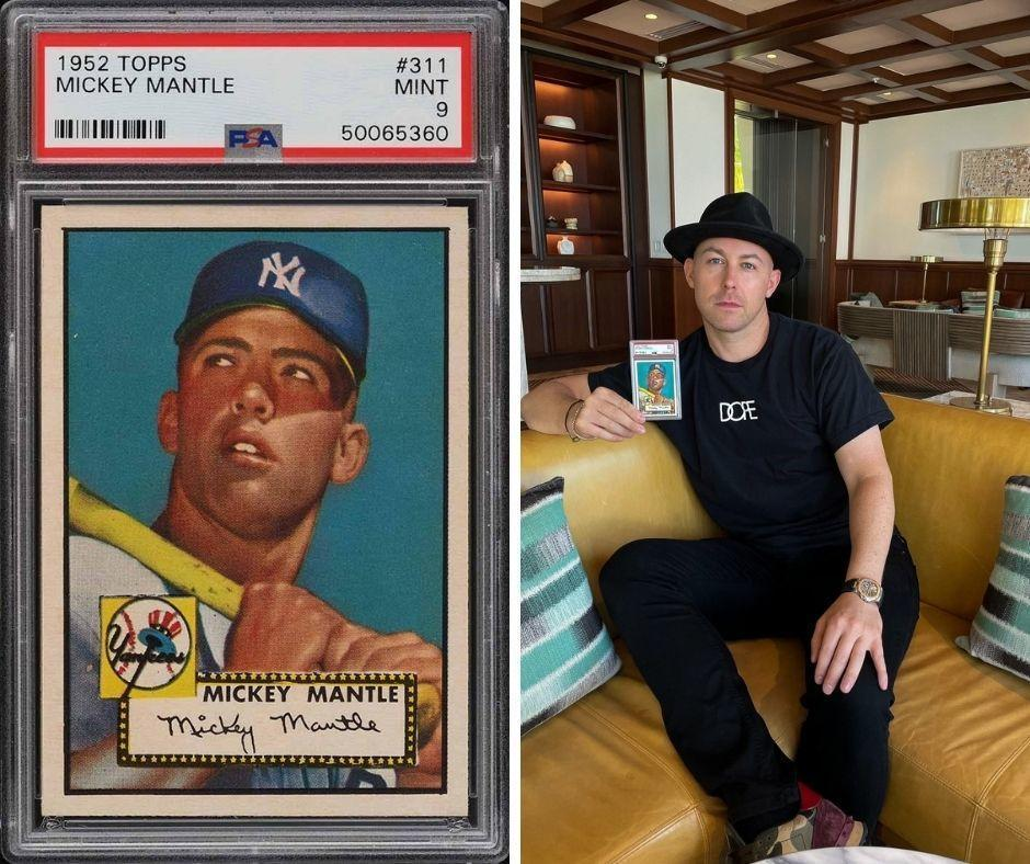 Actor Rob Gough is now the owner of a rare 1952 Mickey Mantle baseball card. / Credit: PWCC Marketplace