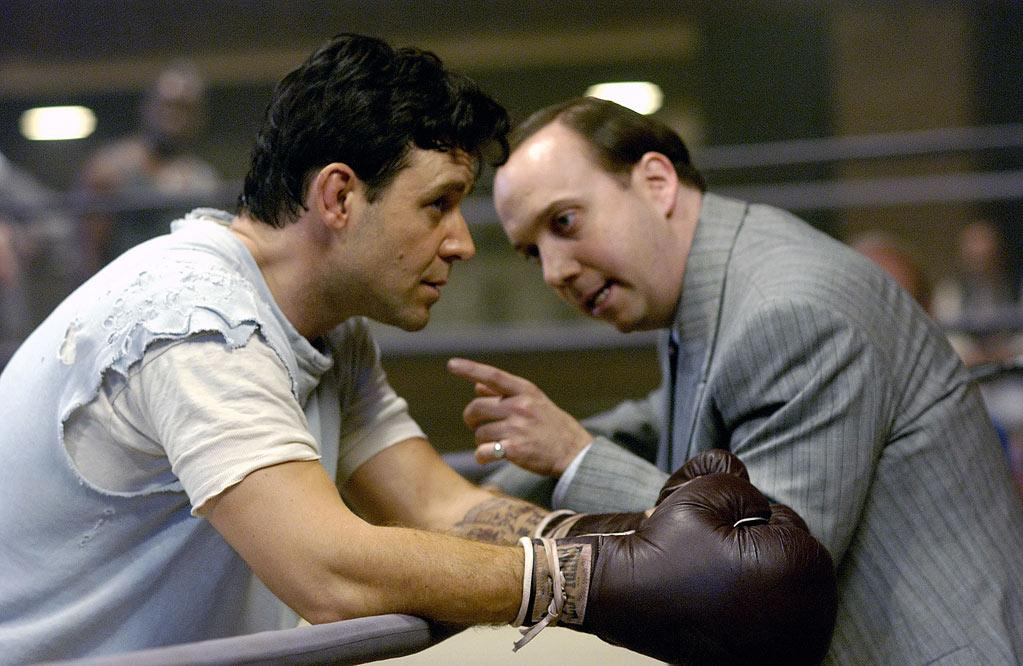"""<a href=""""http://movies.yahoo.com/movie/1808403465/info"""">Cinderella Man</a> (2005): Giamatti pretty much stole this thing right out from under Russell Crowe -- no small feat -- and earned an Oscar nomination for best supporting actor. As Joe Gould, the persuasive boxing manager to Crowe's Jim Braddock, Giamatti played a man who put his considerable energy and resourcefulness into maintaining the appearance that he was still thriving financially. After heavier, introspective roles in """"American Splendor"""" and """"Sideways,"""" he reminded us here that he's just as capable of tearing it up as a fast-talking force of nature. Ron Howard's film was inspirational and crowd-pleasing, but Giamatti was the one who delivered the real knockout."""