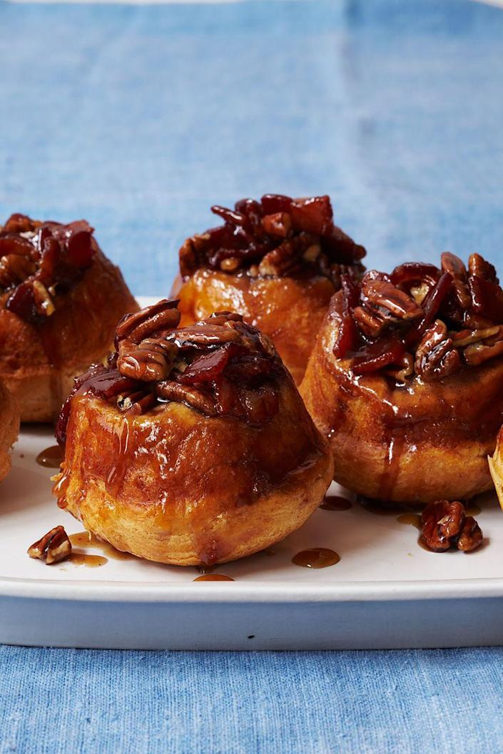 "<p>If Mom loves sweet<em> and</em> salty, she'll love these sticky buns. </p><p><a href=""https://www.womansday.com/food-recipes/food-drinks/recipes/a12081/maple-bacon-pecan-buns-recipe-wdy0912/"" rel=""nofollow noopener"" target=""_blank"" data-ylk=""slk:Get the recipe for Maple, Bacon, and Pecan Sticky Buns."" class=""link rapid-noclick-resp""><em>Get the recipe for Maple, Bacon, and Pecan Sticky Buns.</em></a> </p>"