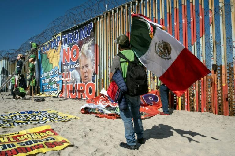 "Trump sparked anger during his 2016 election campaign when he branded Mexican migrants ""rapists"" and drug dealers, and vowed to build a wall across the southern US border"