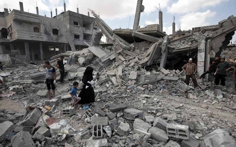 More than 2,251Palestinians were killed in the 50-day war between Israel and Hamas (AFP Photo/Mahmud Hams)