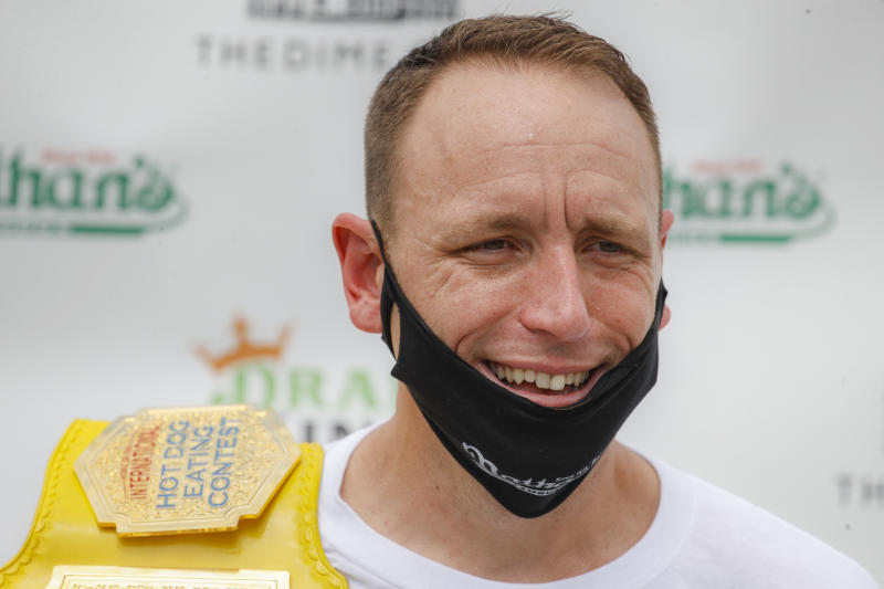 Competitive eater Joey Chestnut.