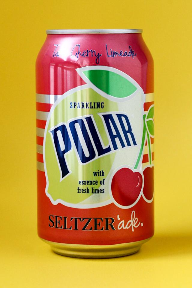 <p>Polar Seltzer'ade Cherry Limeade tastes like a melted Firecracker Popsicle, except even better, because it's fizzy. Sipping side effects may include extreme thirst quenching and phantom notes of the ice cream truck's siren call.</p>
