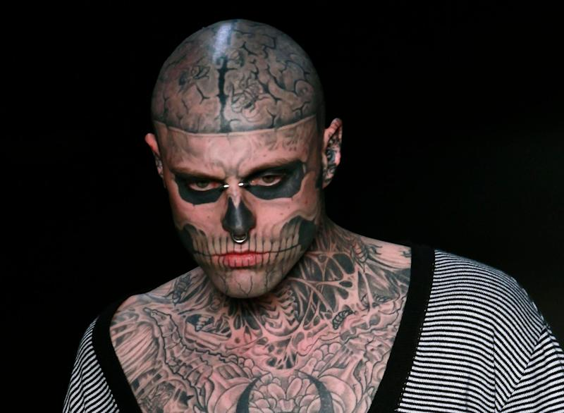 Canadian model and artist Rick Genest, who was best known as Zombie Boy, died on August 1, 2018 at the age of 32.