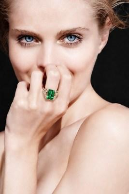 """Internationally acclaimed jewelry designer Kat Florence launches rare collection of Muzo Emeralds to collectors. Increased demand in """"legacy gemstones from world's most renowned Emerald mine."""" The Kat Florence Muzo Emerald collection will be released the week of May 25 on her website www.katflorence.com."""