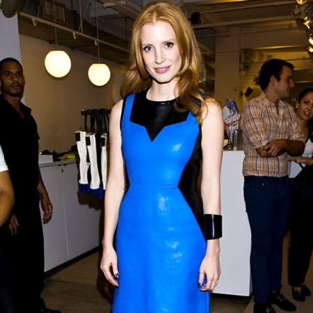 Jessica Chastain: Red lips are chic