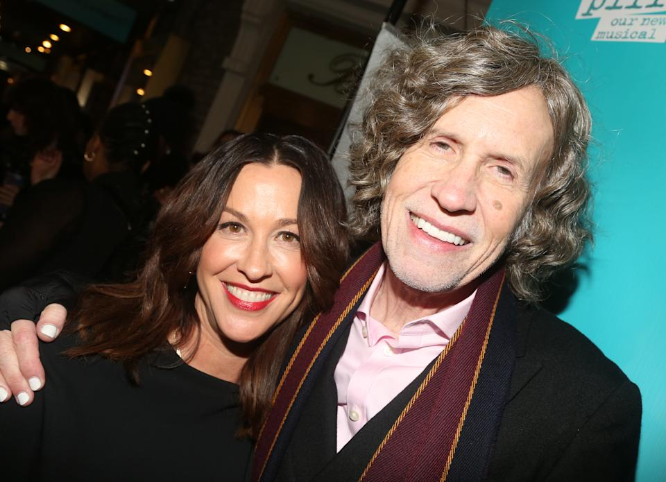 Alanis Morissette and Glen Ballard pose at the opening night of the new Alanis Morissette musical 'Jagged Little Pill' on Broadway at the Broadhurst Theatre on Dec. 5, 2019 in New York City. (Photo: Bruce Glikas/FilmMagic)