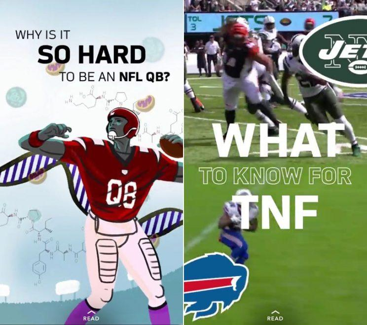 NFL on Snapchat Discover