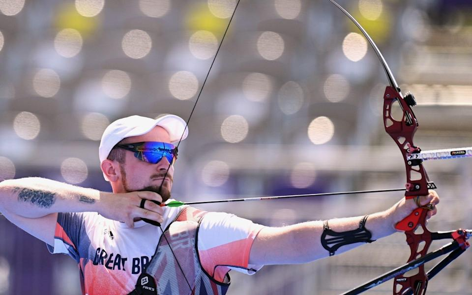 Patrick Huston was eliminated at the round of 32 in the archery - REUTERS