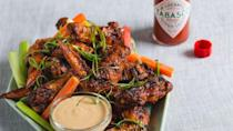 """<p>These are the only wings you need on game day.</p><p>Get the recipe from <a href=""""https://www.redbookmag.com/cooking/recipe-ideas/recipes/a51343/mario-batalis-big-game-wings-recipe/"""" rel=""""nofollow noopener"""" target=""""_blank"""" data-ylk=""""slk:Delish"""" class=""""link rapid-noclick-resp"""">Delish</a>.</p>"""