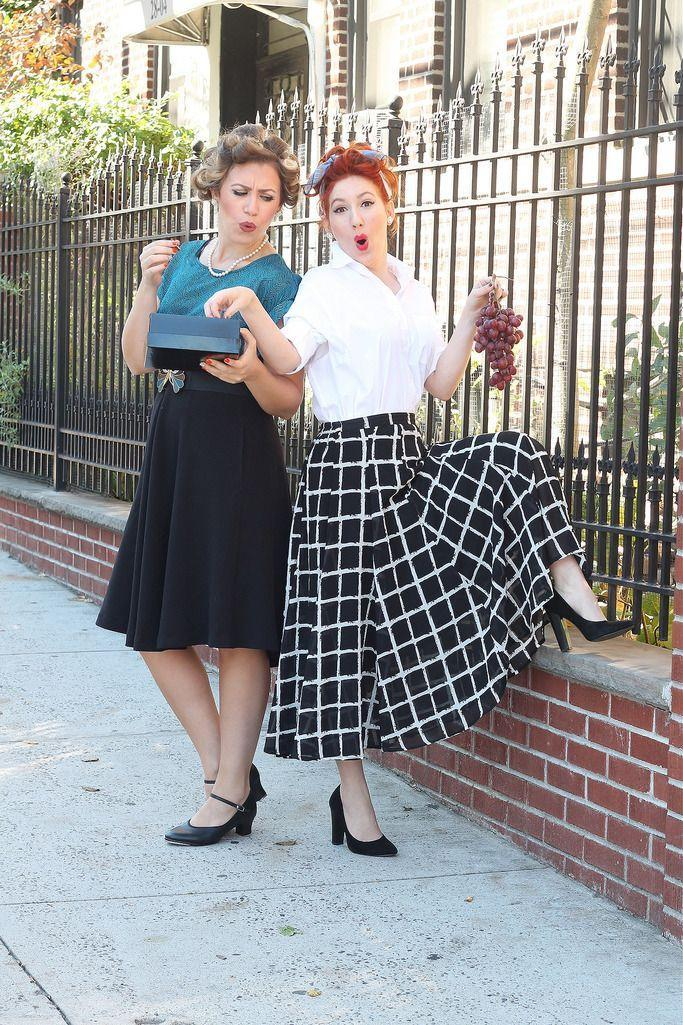 """<p>Throw it back this Halloween to the fun '50s sitcom <em>I Love Lucy</em>. Don't forget the chocolates and the red lipstick.</p><p><strong>Get the tutorial at <a href=""""http://livingaftermidnite.com/2015/10/3-halloween-costumes-for-you-and-your-bestie.html"""" rel=""""nofollow noopener"""" target=""""_blank"""" data-ylk=""""slk:Living After Midnite"""" class=""""link rapid-noclick-resp"""">Living After Midnite</a>.</strong><br></p><p><strong><a class=""""link rapid-noclick-resp"""" href=""""https://www.amazon.com/slp/a-line-skirt/wgypobmzdpc937s?tag=syn-yahoo-20&ascsubtag=%5Bartid%7C10050.g.21349110%5Bsrc%7Cyahoo-us"""" rel=""""nofollow noopener"""" target=""""_blank"""" data-ylk=""""slk:SHOP A-LINE SKIRTS"""">SHOP A-LINE SKIRTS</a></strong></p>"""