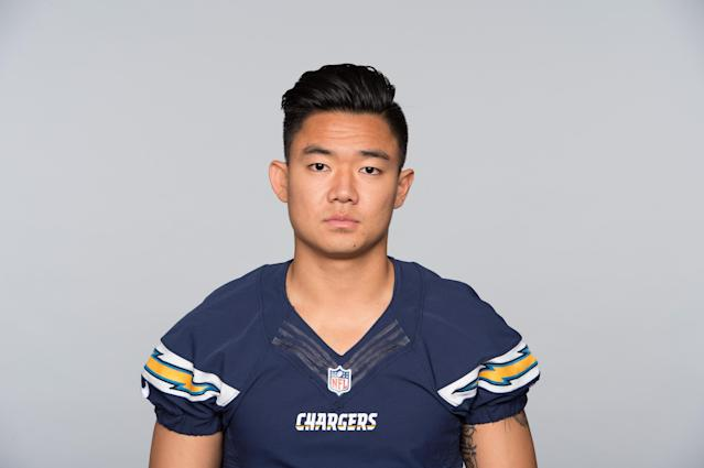 A decade after coming to the United States from South Korea and picking up football as a way to make friends, Younghoe Koo is the Chargers kicker. (AP)