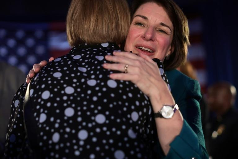 Second-tier hopeful Amy Klobuchar looks to outpace expectations and seize momentum heading into the next contest (AFP Photo/ALEX WONG)