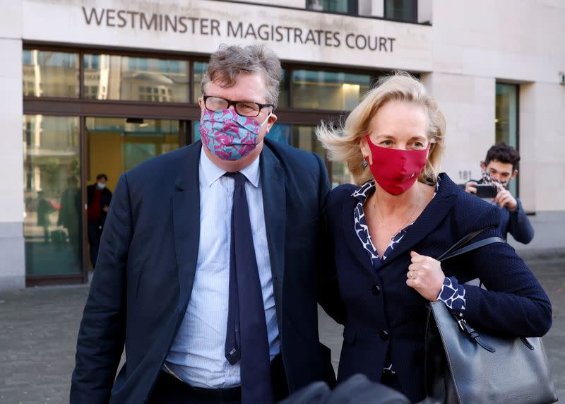Hedge fund manager Odey leaves Westminster Magistrates' Court in London