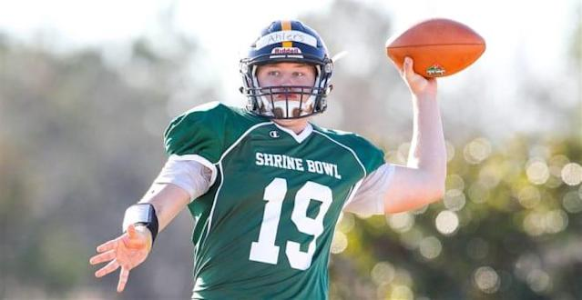 Holton Ahlers Named Team MVP in a 55-24 Shrine Bowl Victory