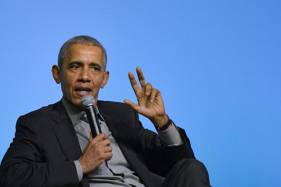 The former President made the comments at a Singapore Expo. [Photo: Getty]