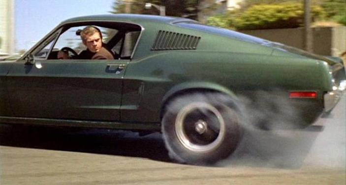 "In 1968, McQueen starred in ""Bullitt,"" possibly his best known film. Playing a cop (at a time when cops were considered ""square""), McQueen and the green Ford Mustang he drove made one of the most memorable chase-scene films ever, revving through the streets of San Francisco."