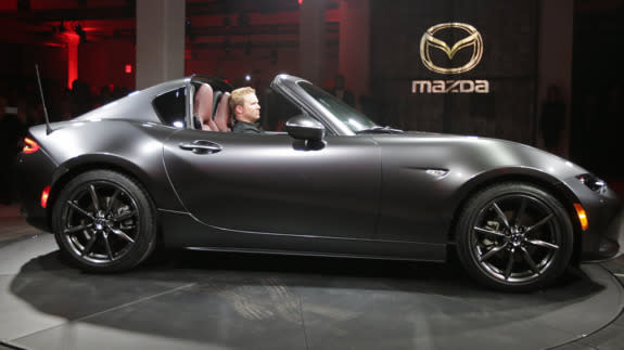 mazda 39 s mx 5 rf retractable hardtop looks like a japanese. Black Bedroom Furniture Sets. Home Design Ideas