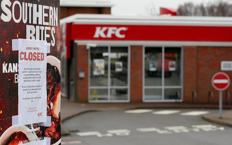KFC with closed sign - REUTERS