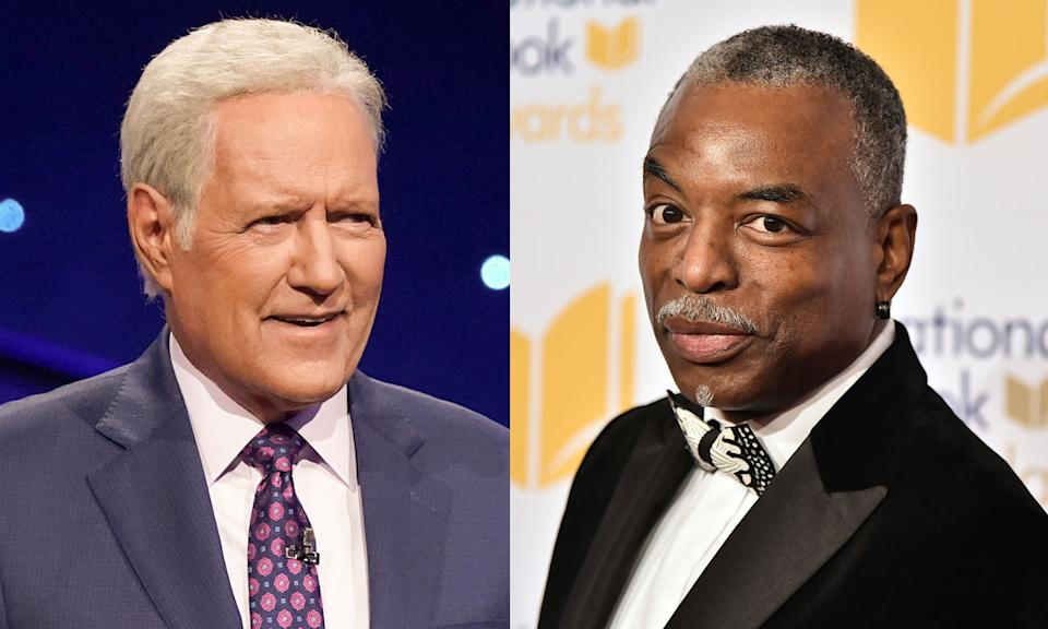 Thousands sign petition for LeVar Burton to succeed Alex Trebek on Jeopardy! (Photos: Getty Images)