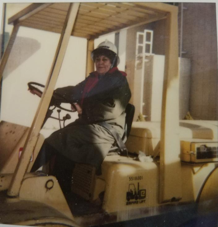 Virginia Garcia repeatedly flunked her driver's test but eventually learned to drive a forklift. For her, failure was not an option.
