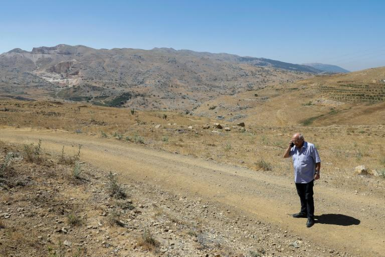 Activist Abdallah Haddad fought for years to stop illegal quarrying near his village of Ain Dara (AFP Photo/JOSEPH EID)