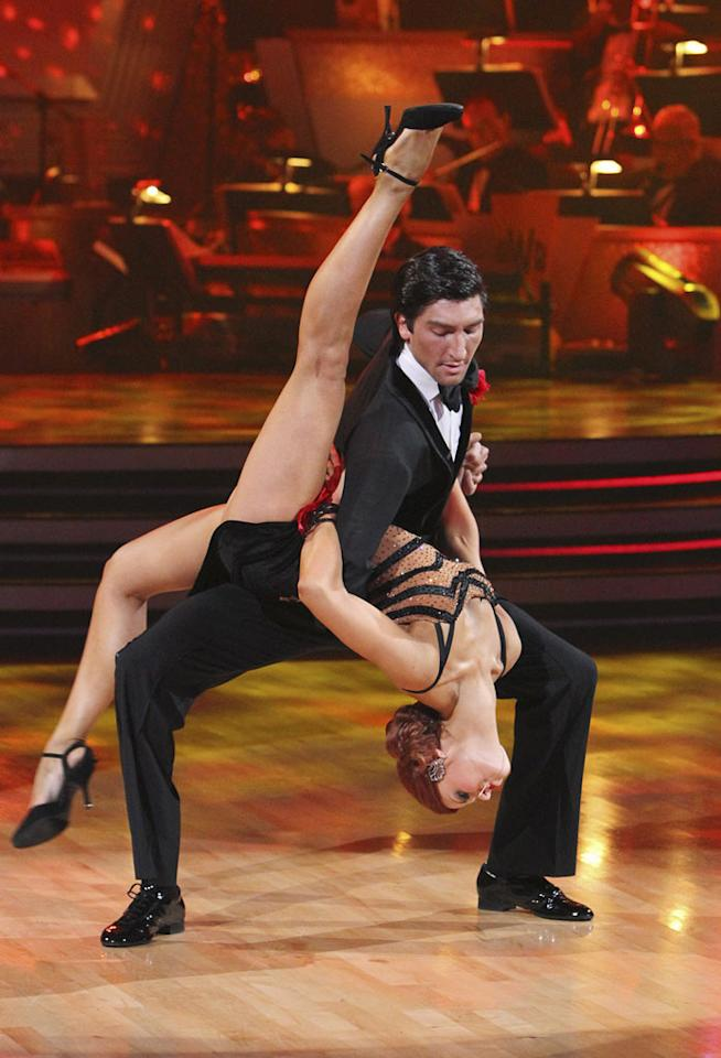 "Anna Trebunskaya and Evan Lysacek on the finale of ""Dancing with the Stars."""