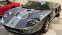 <p>For those who want to feel like Dale Earnhardt Jr. or Mario as he races down the Rainbow Road, a used 2005 Ford GT can be found at car auctions for a pretty steep price. In September 2019, this dazzling vehicle was auctioned off for $302,500.</p>