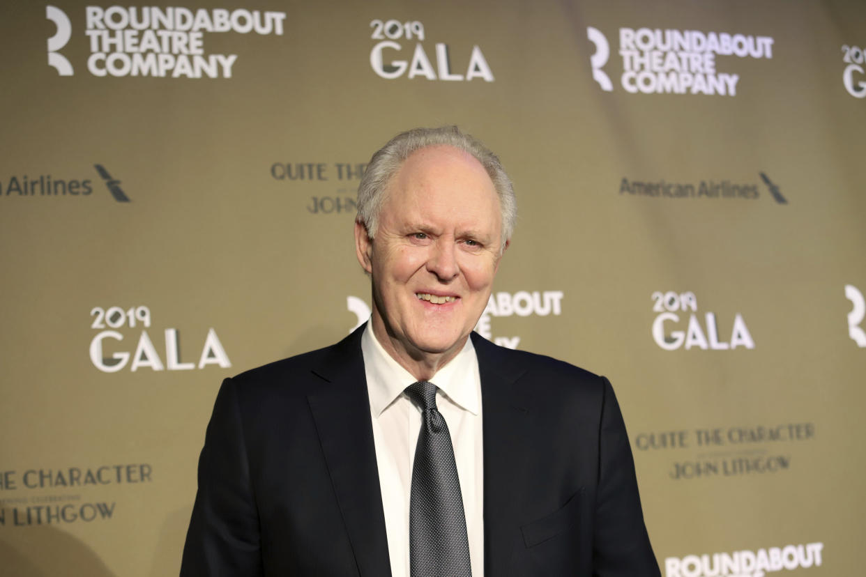 """John Lithgow attends the Roundabout Theatre Company's 2019 Gala, """"Quite the Character: An Evening Celebrating John Lithgow"""", at The Ziegfeld Ballroom on Monday, Feb. 25, 2019, in New York. (Photo by Greg Allen/Invision/AP)"""