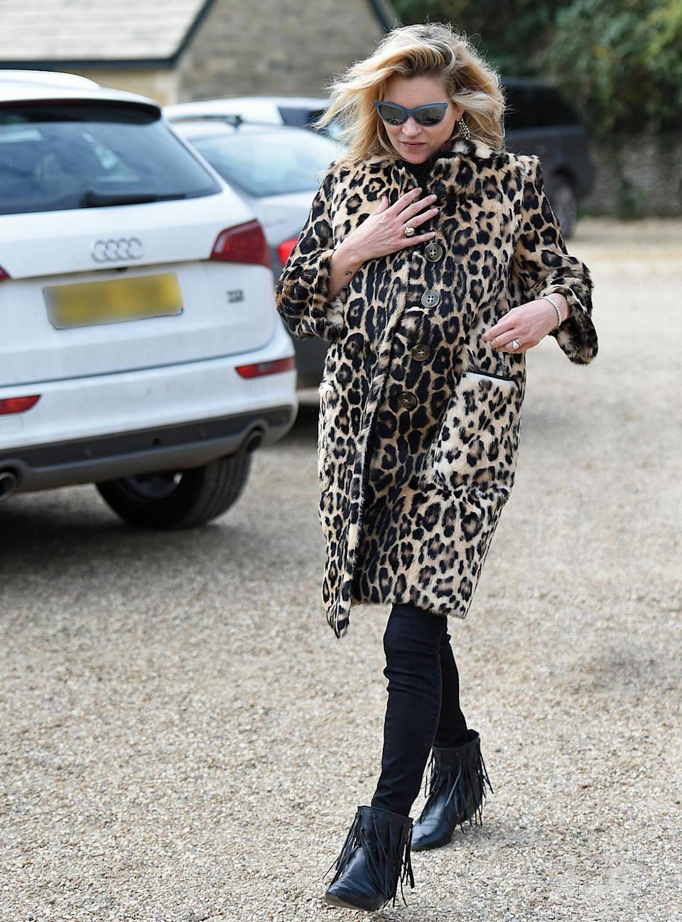 """<p>Moss has made the leopard coat one of her eternal style staples — and she's <a href=""""https://www.yahoo.com/style/leopard-print-coats-forever-and-c1418684900349/photo-jennifer-lawrence-photo-1418845360591.html"""" data-ylk=""""slk:in good company;outcm:mb_qualified_link;_E:mb_qualified_link;ct:story;"""" class=""""link rapid-noclick-resp yahoo-link"""">in good company</a>.</p>"""