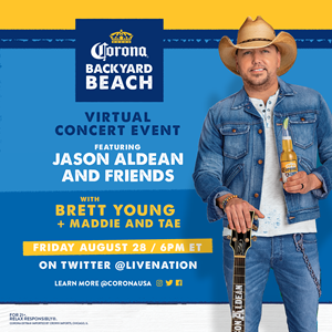 Corona® Invites Fans to Celebrate the End of Summer with Virtual Concert Featuring Multi-Platinum Entertainer Jason Aldean