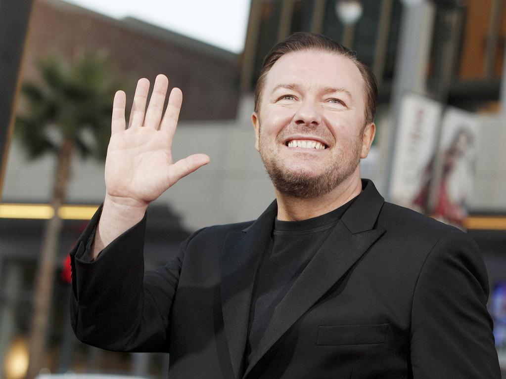 "<a href=""http://movies.yahoo.com/movie/contributor/1808438269"">Ricky Gervais</a> at the Los Angeles premiere of <a href=""http://movies.yahoo.com/movie/1810022054/info"">The Invention of Lying</a> - 09/21/2009"