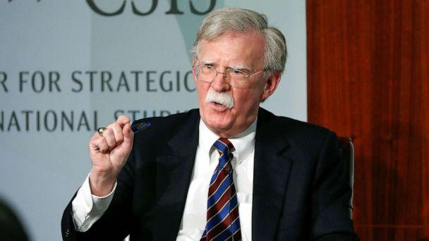 PHOTO: Former National security adviser John Bolton gestures while speakings at the Center for Strategic and International Studies in Washington D.C., Sept. 30, 2019. (Pablo Martinez Monsivais/AP)