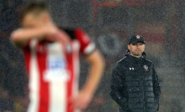 Ralph Hasenhuttl oversaw Southampton's chastening 9-0 home loss to Leicester in October (Andrew Matthews/PA)