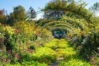 "<p>The <a href=""https://fondation-monet.com/en/"" rel=""nofollow noopener"" target=""_blank"" data-ylk=""slk:house and gardens of Claude Monet"" class=""link rapid-noclick-resp"">house and gardens of Claude Monet</a> allow art enthusiasts to explore the landscapes and ponds that inspired the French Impressionist's most iconic pieces of works like <em>The Water Lily Pond </em>and <em>The Artist's Garden at Giverny</em>. </p><p>Taken by the quaint village in northern France, Monet settled into his pink stucco cottage in 1883, where he would spend the rest of his life and build his well-known front garden ""Clos Normand"" and water lily pond ""Jardin d'Eau."" Climbing rose arbors frame the path to stunning weeping willows, blooming fruit trees, and a Japanese bridge.</p>"