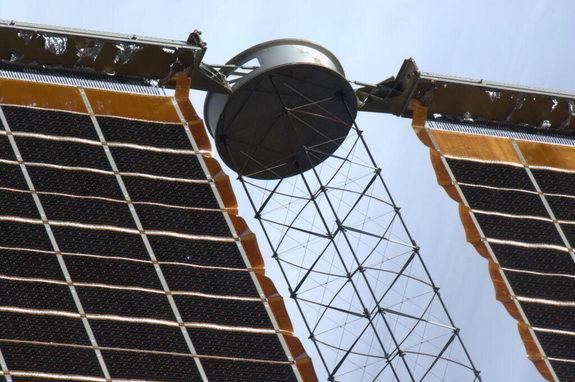 Astronaut Spies 'Bullet Hole' in Space Station Solar Wing (Photo)