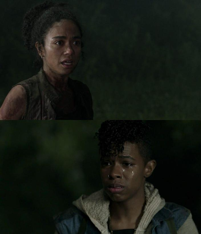 TWD 1106 Connie and Kelly / Lauren Ridloff and Angel Theory reunite