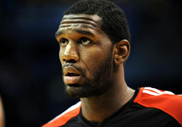 November 1 2009: Portland Trailblazers center Greg Oden #52 warms up before an NBA game between the Portland Trail Blazers and the Oklahoma City Thunder at the Ford Center in Oklahoma City, OK Portland defeated Oklahoma City 83-74 (Photo by Albert Pena/Icon SMI/Corbis/Icon Sportswire via Getty Images)