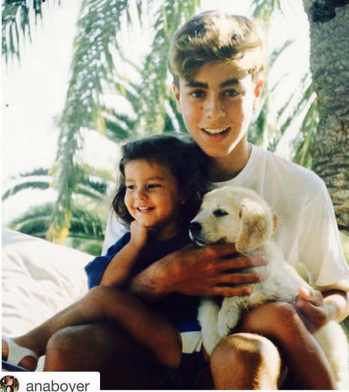 """<p>Singer Enrique Iglesias, sharing a photo first posted by his half-sister, Ana Boyer: """"#TimeFlies #Throwback #GoldenRetriever #Repost @anaboyer"""" -<a href=""""https://www.instagram.com/p/-1sbRzqGRy/?taken-by=enriqueiglesias"""" rel=""""nofollow noopener"""" target=""""_blank"""" data-ylk=""""slk:@enriqueiglesias"""" class=""""link rapid-noclick-resp"""">@enriqueiglesias</a> (Instagram)</p>"""