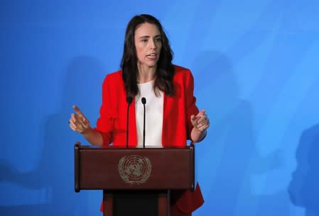 New Zealand's Prime Minister Ardern speaks during the 2019 United Nations Climate Action Summit at U.N. headquarters in New York City, New York, U.S.