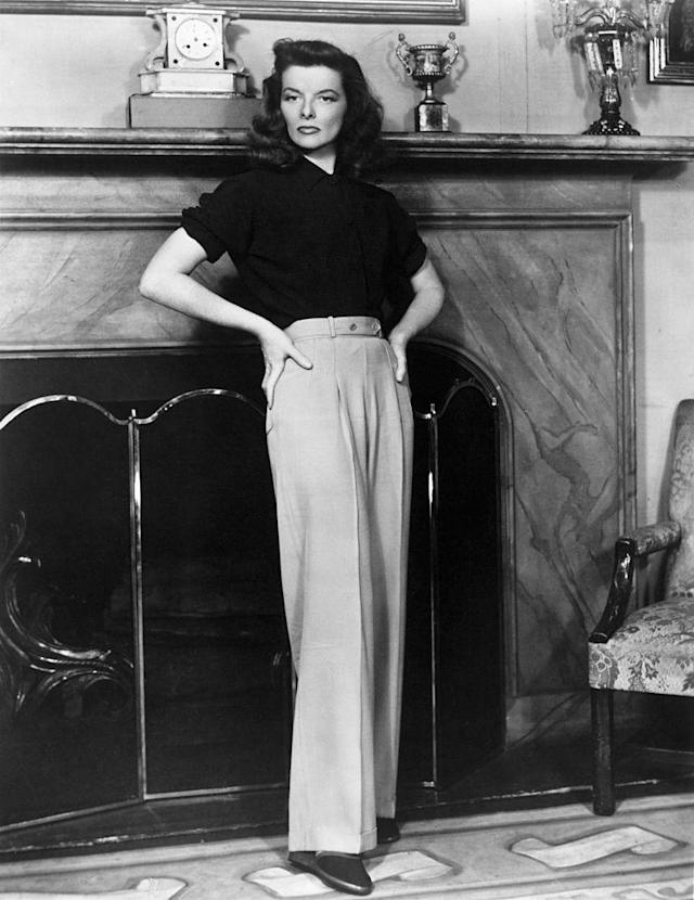 Katharine Hepburn in the stage version of <em>The Philadelphia Story</em>, late 1930s. (Photo: Getty Images)