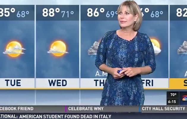 Initially, she doesn't seem too impressed but it's not long before Marie is in hysterics too. Source: WGRZ.com