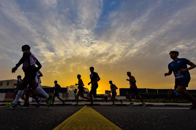 A man accused of cheating in the L.A. Marathon has been found dead. (STRINGER/AFP/Getty Images)