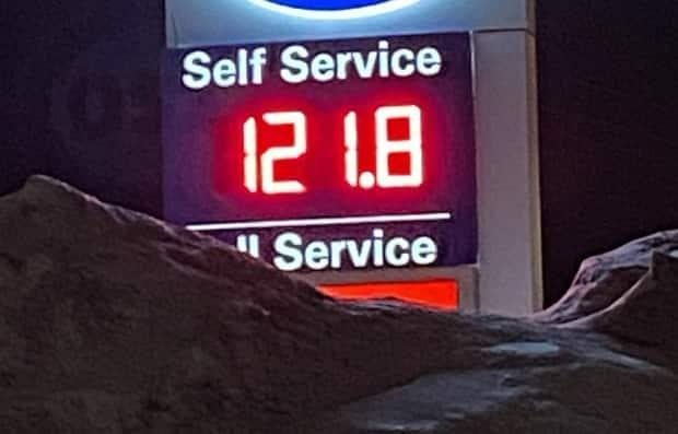 This is the highest price for gas since July 2019. (Mitch Cormier/CBC - image credit)