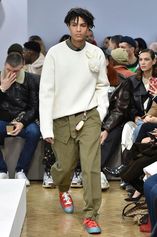 <p>JW Anderson followed in the footsteps of Burberry this season by showing both menswear and womenswear at the AW18 shows. <em>[Photo: Getty]</em> </p>