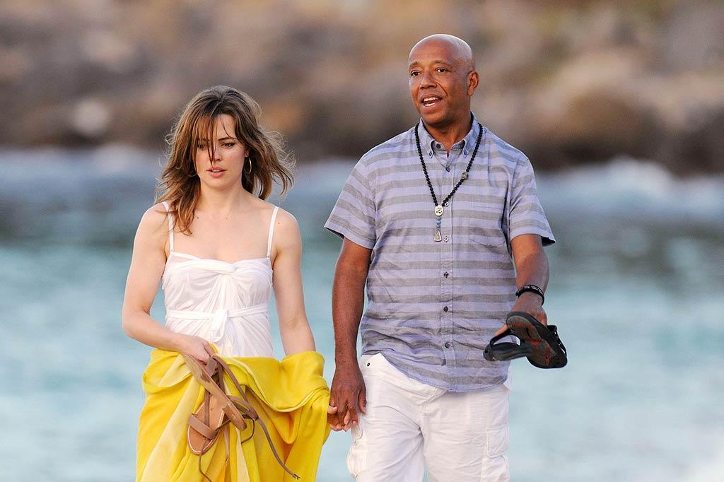 Meanwhile, Kimora's ex, hip-hop mogul Russell Simmons, took his new girlfriend, Australian actress Melissa George, to meet up with his former wife, her new husband, and their kids at the same resort. Now <em>that's</em> a modern family. (12/26/2011)