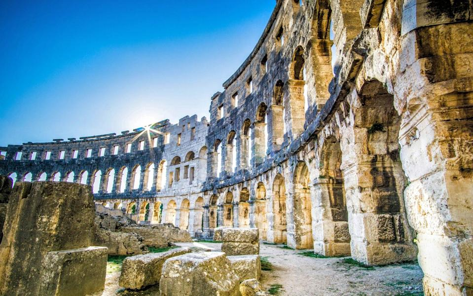 Pula offers relics of the Romans
