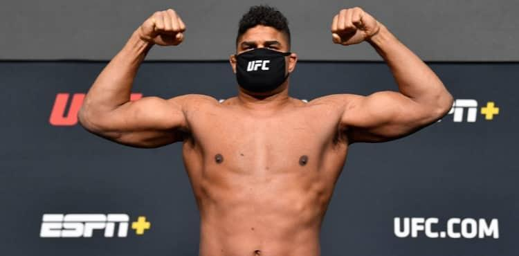 Alistair Overeem at UFC Vegas 18 weigh-in